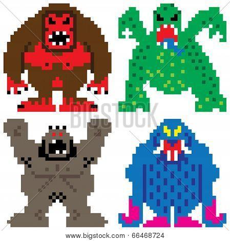 Worse Nightmare Terrifying Monsters Pixel Art