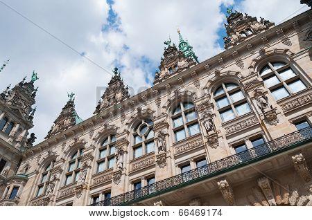 Historic architecture, Hamburg Town-hall