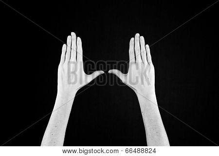 Hands In Black And White