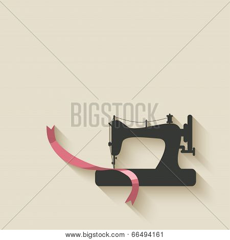 sewing machine background - vector illustration. eps 10 poster