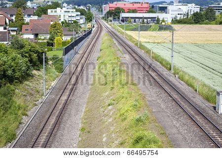 Railroad Track, View From Above