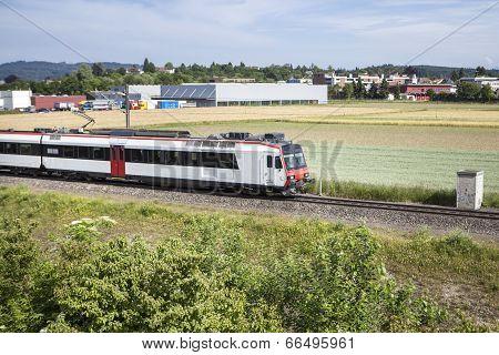 Swiss Suburb Train