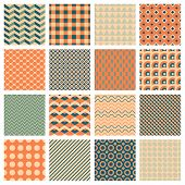 vector backgrounds, 16 simple geometric seamless patterns poster