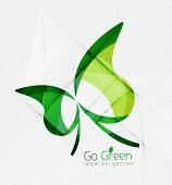 Green eco unusual background concept - llustration poster