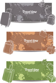 set horizontal travel banners