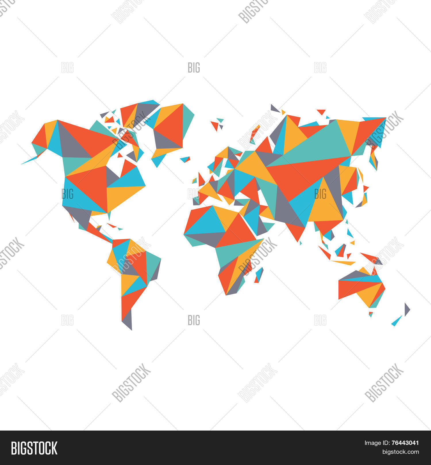 Abstract world map vector photo free trial bigstock abstract world map vector illustration geometric structure in flat color for presentation bookl gumiabroncs Image collections