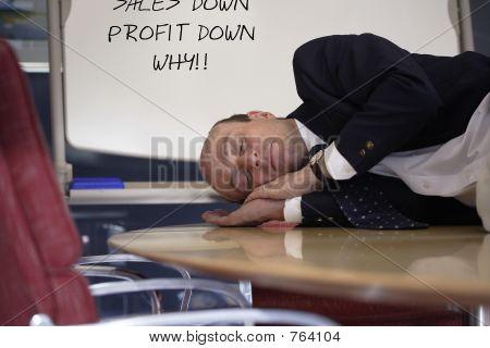 Asleep on the job