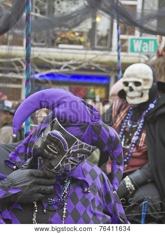 Mardi Gras Fool And Skull