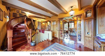 Interior design: Big rustic style living room