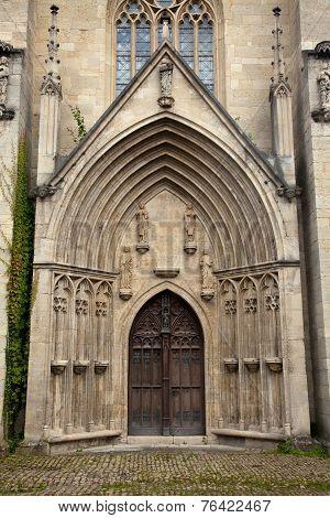 Cathedral entrance monastery Pforta