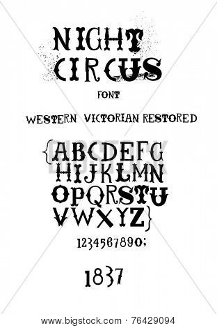Vintage western victorian fanciful font