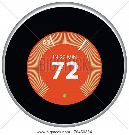 Nest Thermostat Red