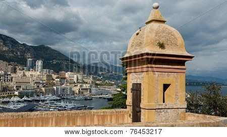 Fortification Over The Port Of Montecarlo