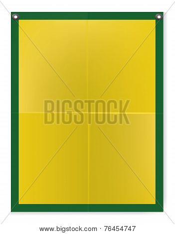 Folded texture yellow blank paper poster illustration