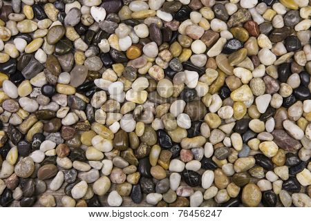 Natural pebble stones background.