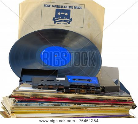 Retro graphics vinyl record inner sleeve