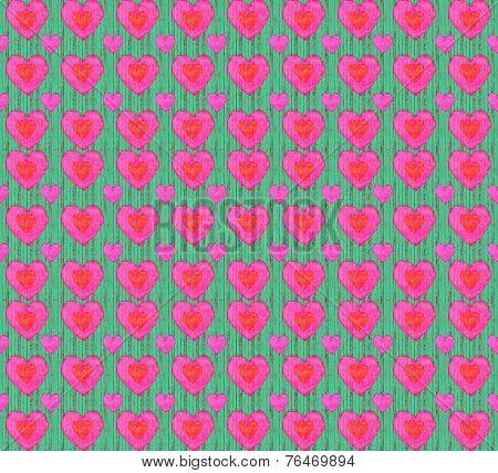 Grunge Style Heart Shaped Pattern