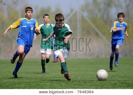 U13 soccer game