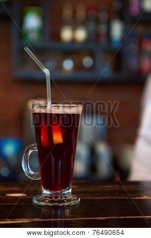 photo of mulled wine at bar