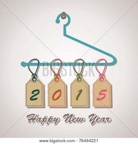 2015 word hanging on a hanger