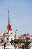 A view of The Altare della Patria poster