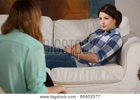 Girl At Psychologist