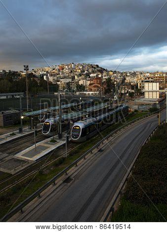 Metro Station At Sunrise.