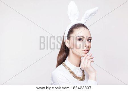 Beautiful Model With Rabbit Ears