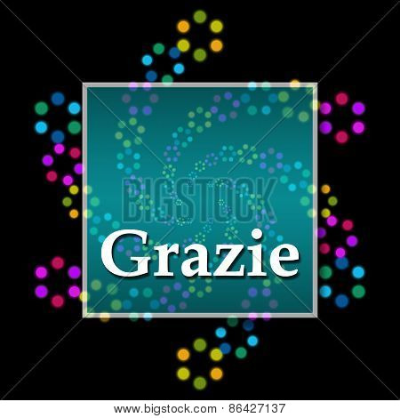Grazie Black Colorful Square