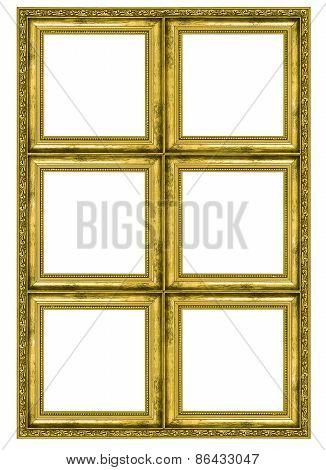 Giant Golden Frame Containing Six Quadrats