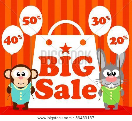 Sale poster with funny animal