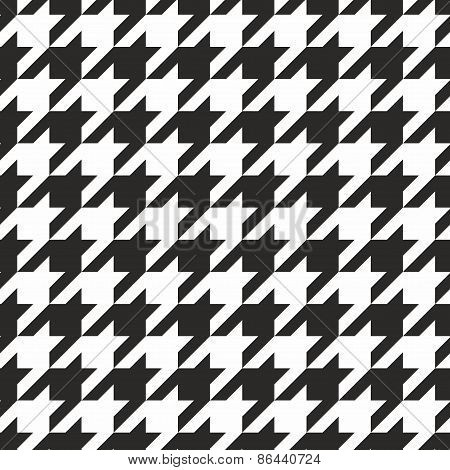 Houndstooth tile vector black and white pattern or background