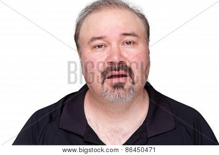 Unmotivated Lethargic Middle-aged Man