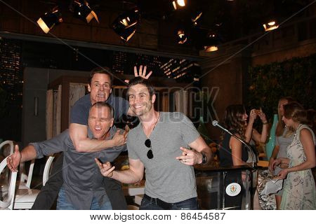LOS ANGELES - MAR 26:  Christian LeBlanc, Sean Carrigan, Daniel Goddard at the Young & Restless 42nd Anniversary Celebration at the CBS Television City on March 26, 2015 in Los Angeles, CA