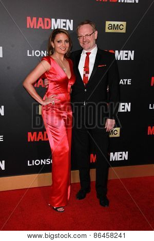 LOS ANGELES - MAR 25:  Allegra Riggio, Jared Harris at the Mad Men Black & Red Gala at the Dorthy Chandler Pavillion on March 25, 2015 in Los Angeles, CA