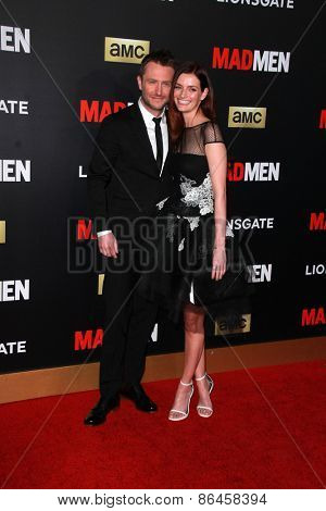 LOS ANGELES - MAR 25:  Chris Hardwick, Lydia Hearst at the Mad Men Black & Red Gala at the Dorthy Chandler Pavillion on March 25, 2015 in Los Angeles, CA
