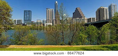 Austin Texas City Skyline Panorama