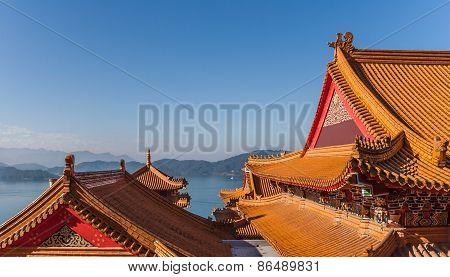 Wenwu Temple At Sun Moon Lake, Taiwan