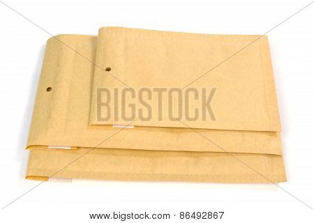 Three Different Size Bubble Lined Shipping Or Packing Envelopes