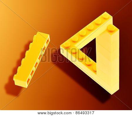 Yellow bricks in neverending triangle