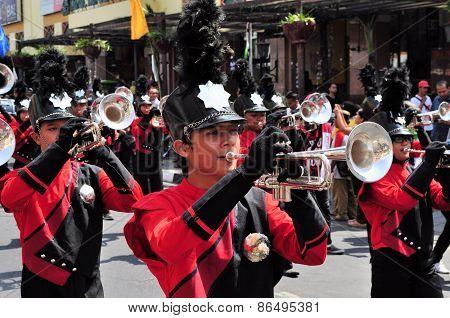 Military Musicians, Yogyakarta city festival military parade