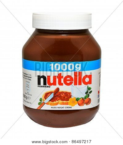Jar With Nutella Hazelnut Spread
