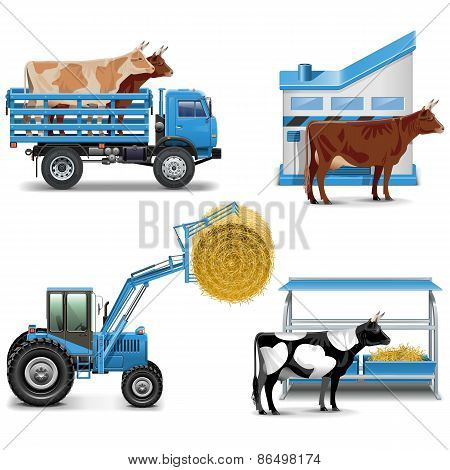 Vector Agricultural Icons Set