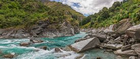 Shotover River in New Zealand's South Island