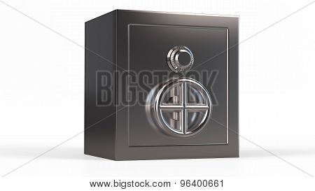 Security Metal Safe. 3D Model Isolated Background