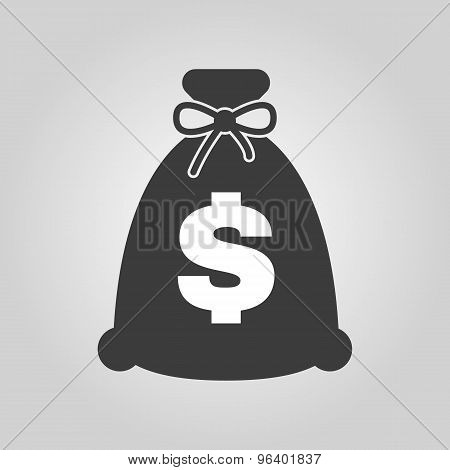 The money bag icon. Cash and money, wealth, payment symbol. Flat