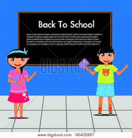 Back to school with kids in class room