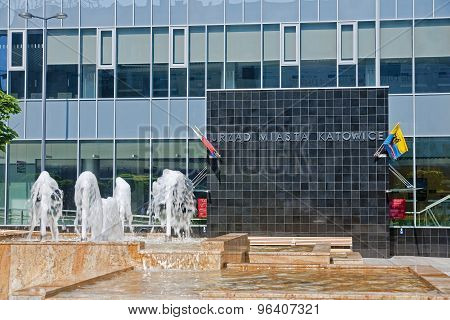 Katowice, Poland - July 19, 2015: New City Hall In Katowice On 1