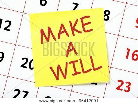 Make a Will Reminder