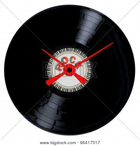 Rock Record Clock Face